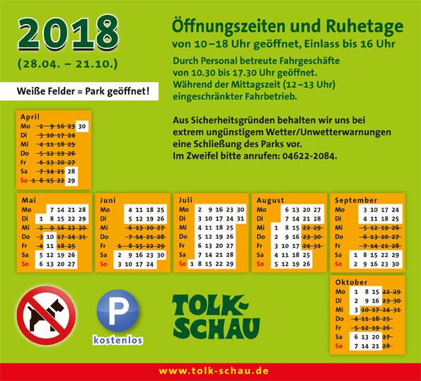 Öffnungszeiten 2018